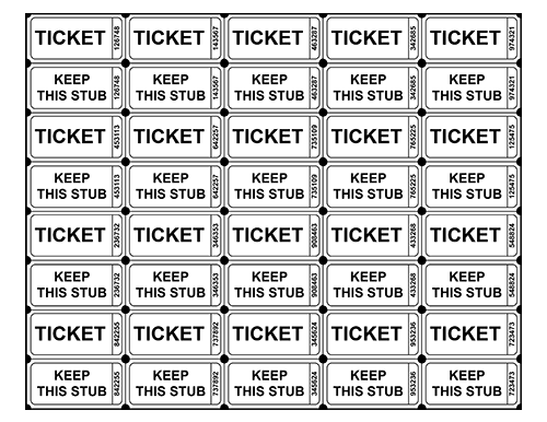 Free Printable Event Ticket Templates & Blank Admission Ticket Pdfs Throughout Blank Admission Ticket Template In Blank Admission Ticket Template