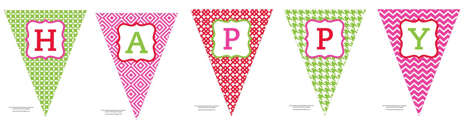 Free Printable: Happy Birthday Banner - Anders Ruff Custom Designs  Inside Free Printable Happy Birthday Banner Templates In Free Printable Happy Birthday Banner Templates