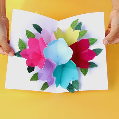 Free Printable Happy Birthday Card With Pop Up Bouquet – A Piece  In Happy Birthday Pop Up Card Free Template