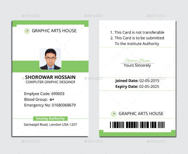 Free Printable Id Cards Templates  room surf Within Personal Identification Card Template