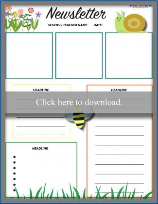 Free Printable School Newsletter Templates  LoveToKnow With Free School Newsletter Templates In Free School Newsletter Templates