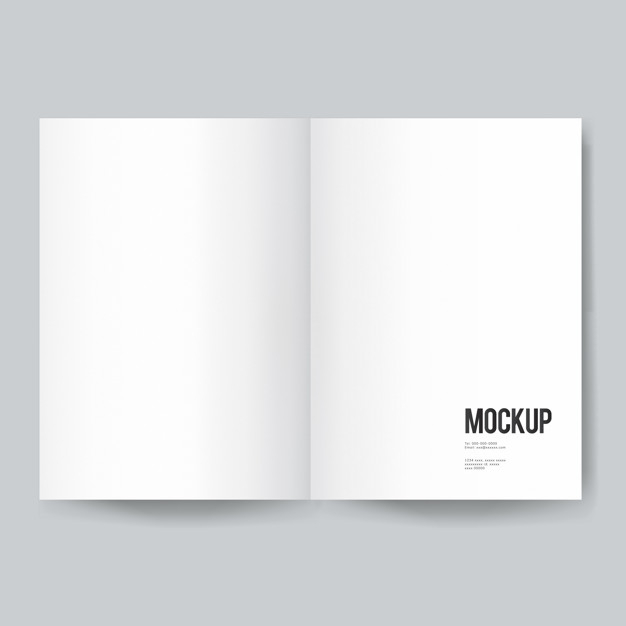 Free PSD  Blank book or magazine template mockup For Blank Magazine Template Psd Inside Blank Magazine Template Psd
