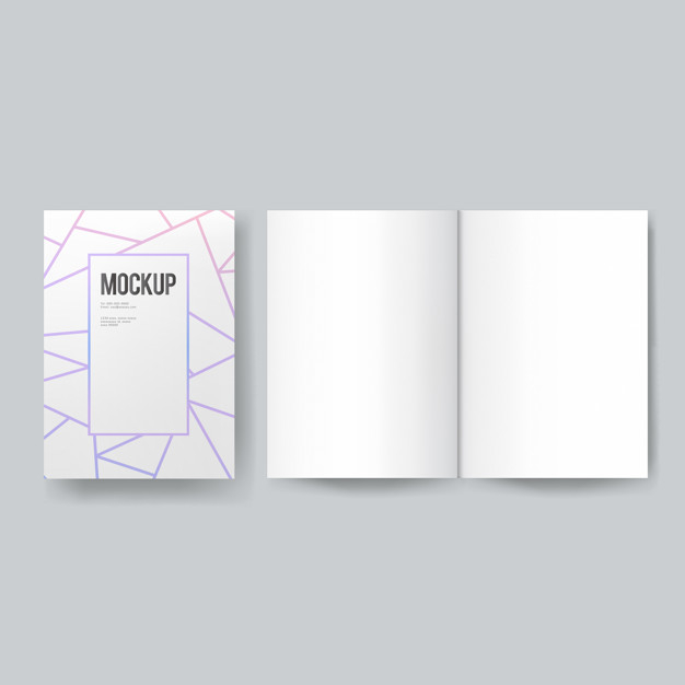 Free PSD  Blank book or magazine template mockup With Regard To Blank Magazine Template Psd Inside Blank Magazine Template Psd