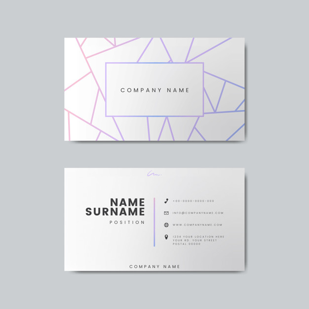 Free PSD  Blank business card design mockup For Free Editable Printable Business Card Templates