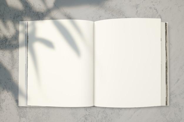 Free PSD  Magazine mockup with a blank space Inside Blank Magazine Template Psd Regarding Blank Magazine Template Psd