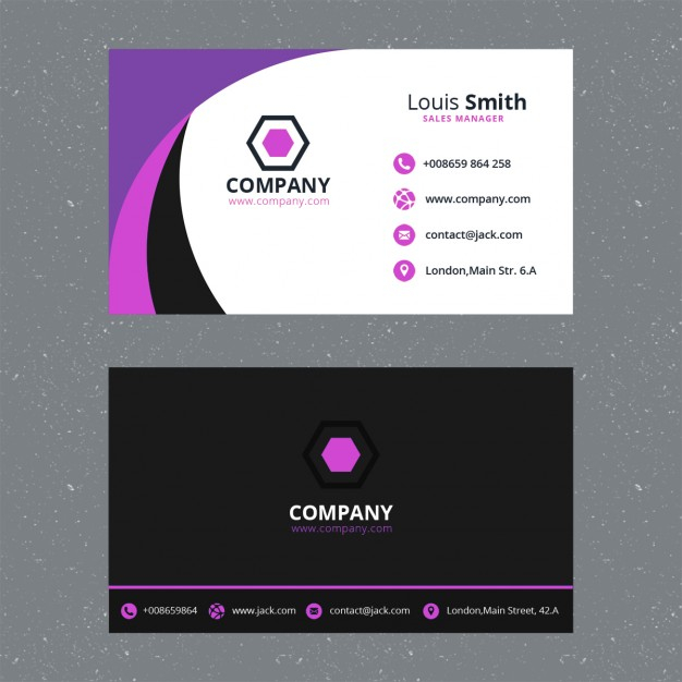 Free PSD  Purple business card template With Regard To Visiting Card Templates Psd Free Download In Visiting Card Templates Psd Free Download