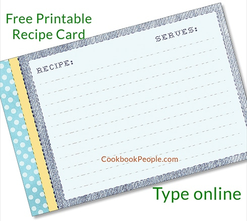 Free Recipe Cards - Cookbook People Pertaining To Fillable Recipe Card Template Throughout Fillable Recipe Card Template