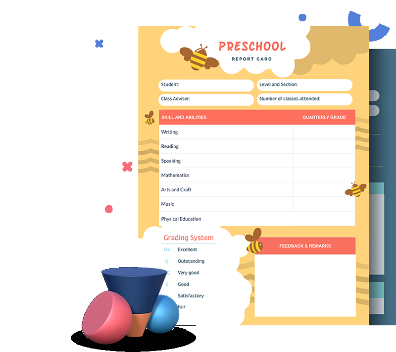 Free Report Card Templates - Customize & Download  Visme Intended For Report Card Format Template