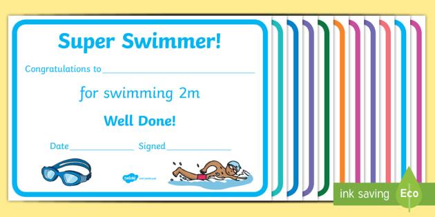 FREE! - Swimming Certificates With Regard To Free Swimming Certificate Templates For Free Swimming Certificate Templates