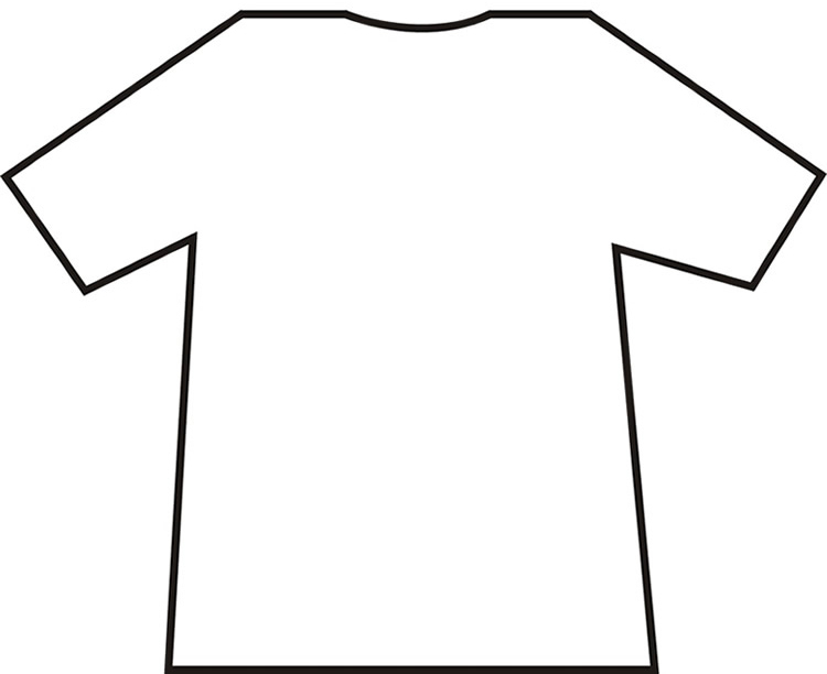 Free T Shirt Outline Template, Download Free Clip Art, Free Clip  In Blank T Shirt Outline Template Intended For Blank T Shirt Outline Template