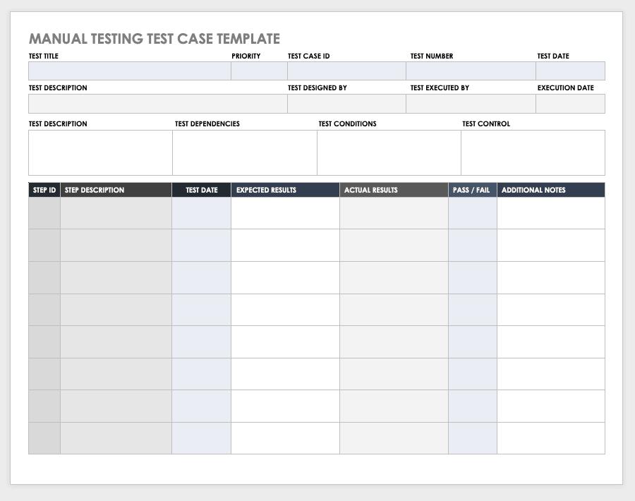 Free Test Case Templates  Smartsheet Inside Test Template For Word