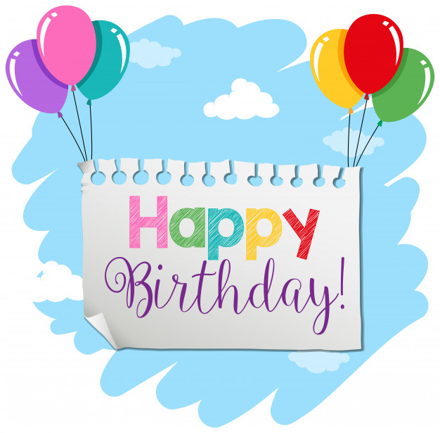 Free Vector  A birthday banner template Regarding Free Happy Birthday Banner Templates Download With Regard To Free Happy Birthday Banner Templates Download