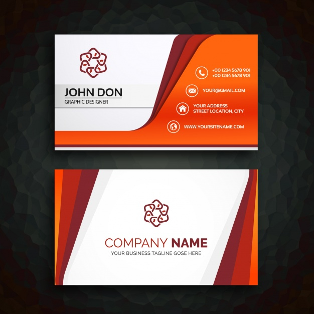 Free Vector  Business card template For Designer Visiting Cards Templates Within Designer Visiting Cards Templates