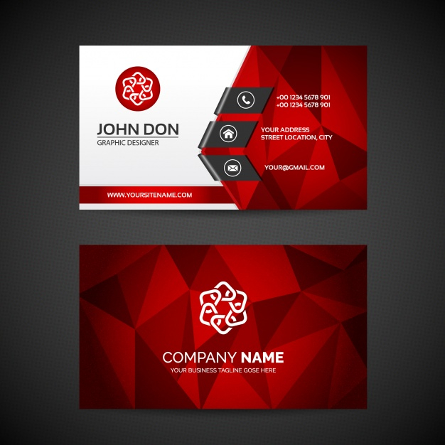 Free Vector  Business card template Within Free Bussiness Card Template Within Free Bussiness Card Template