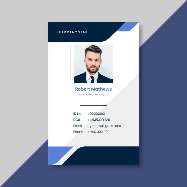 Free Vector  Business id card template with minimalist elements Throughout Personal Identification Card Template