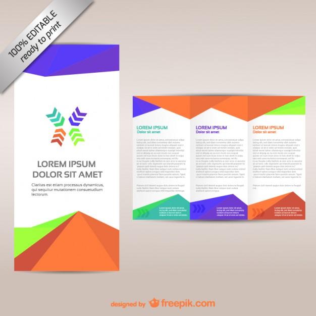 Free Vector  Colorful tri-fold brochure template With 3 Fold Brochure Template Free Download With 3 Fold Brochure Template Free Download