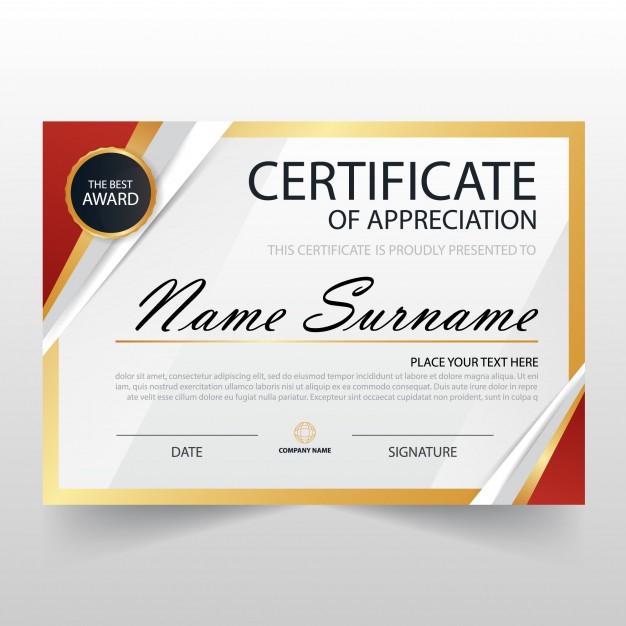 Free Vector  Modern certificate of appreciation template Regarding In Appreciation Certificate Templates In In Appreciation Certificate Templates