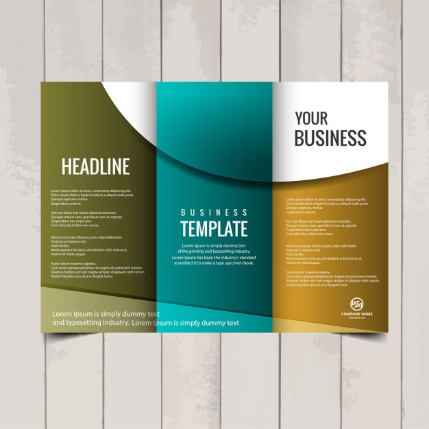 Free Vector  Tri fold brochure template For 3 Fold Brochure Template Free Download Inside 3 Fold Brochure Template Free Download