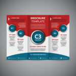 Free Vector  Trifold brochure template In 3 Fold Brochure Template Free Download