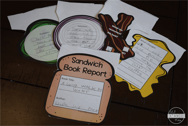 FUN Sandwich Book Report Printable Inside 6th Grade Book Report Template