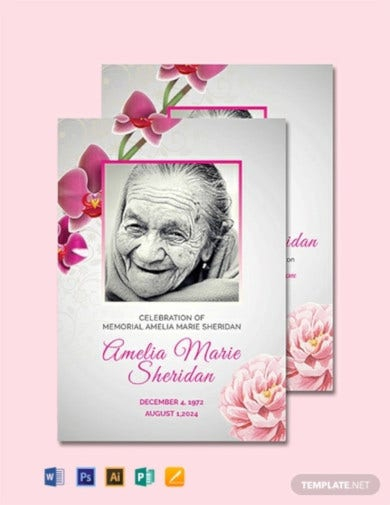 Funeral Memorial Card Templates in AI  Word  Pages  PSD  Inside Remembrance Cards Template Free