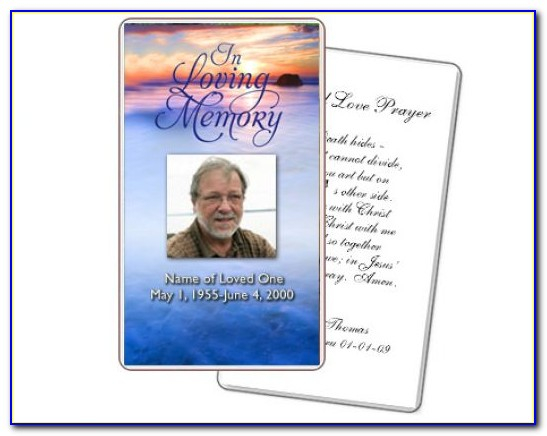 Funeral Remembrance Cards Template  vincegray11 Regarding Remembrance Cards Template Free With Regard To Remembrance Cards Template Free
