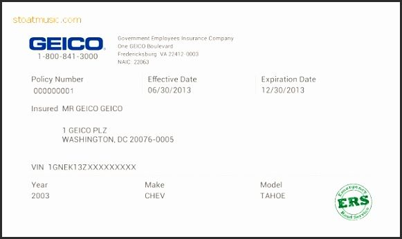 Geico Insurance Pay Bill For Free Fake Auto Insurance Card Template Pertaining To Free Fake Auto Insurance Card Template