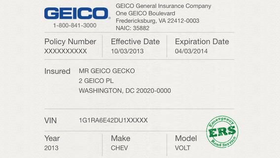 Geico Insurance Pay Bill Within Free Fake Auto Insurance Card Template