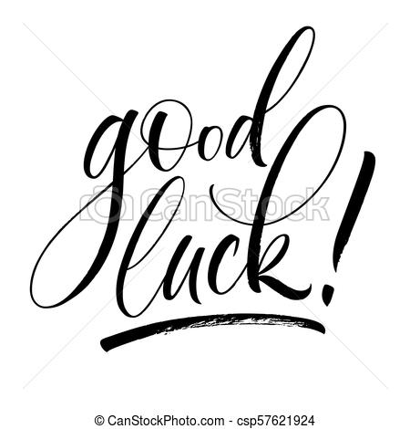 Good Luck Lettering Throughout Good Luck Banner Template