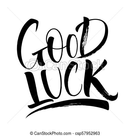 Good Luck Lettering Within Good Luck Banner Template Pertaining To Good Luck Banner Template