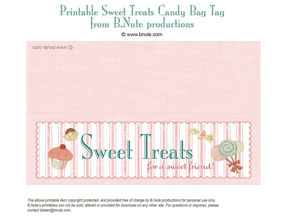 Goodie Bag Template (Page 11) - Line.111QQ In Goodie Bag Label Template