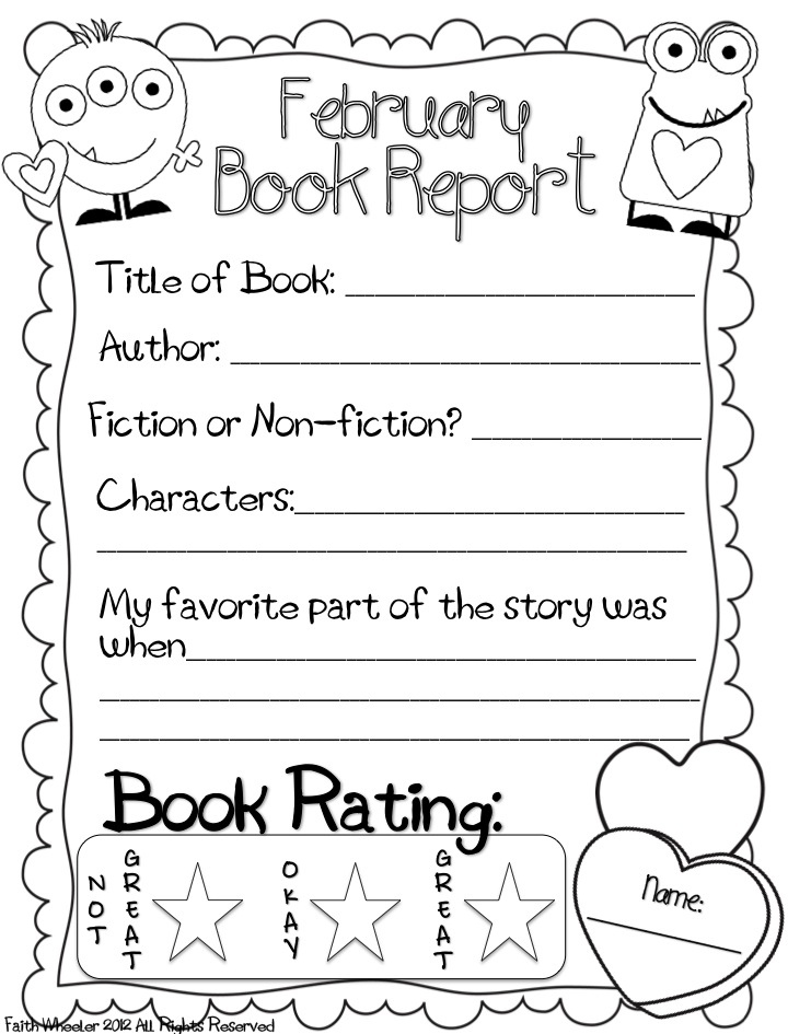 Grade 1111 Book Report Template (Page 1111) - Line.11111QQ Inside Book Report Template Grade 1