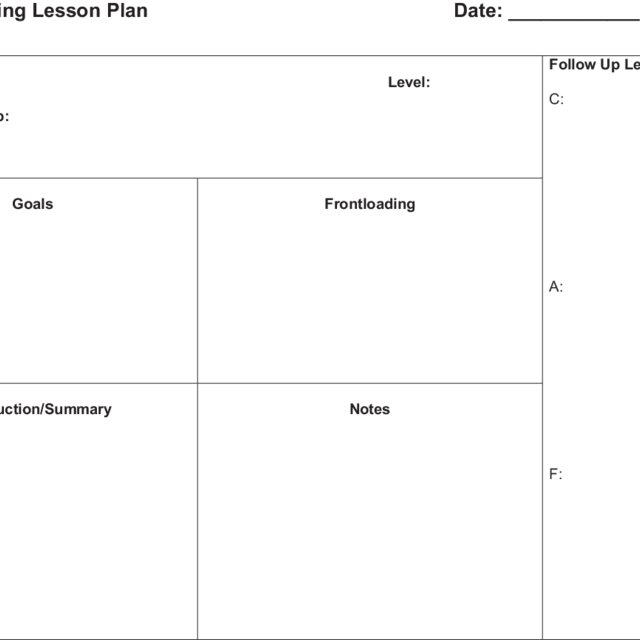 Guided reading lesson plan.  Download Scientific Diagram For Guided Reading Lesson Plan Template Fountas And Pinnell