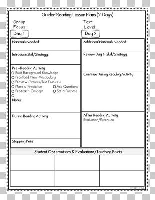 Guided Reading Lesson Plan Template TeachersPayTeachers PNG  Pertaining To Guided Reading Lesson Plan Template Fountas And Pinnell With Regard To Guided Reading Lesson Plan Template Fountas And Pinnell