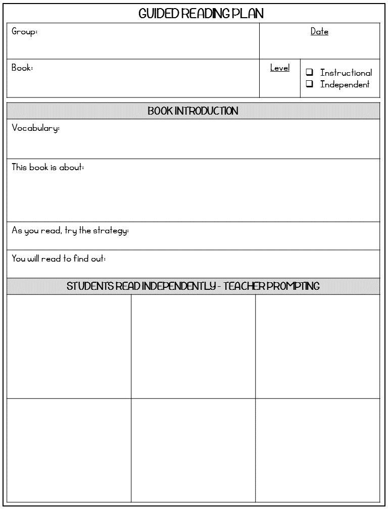 Guided Reading Made Simple - Third Grade Doodles Pertaining To Guided Reading Lesson Plan Template Fountas And Pinnell Throughout Guided Reading Lesson Plan Template Fountas And Pinnell