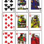 Guyenne Classic Deck of Playing Cards Printable Template  Free  Intended For Free Printable Playing Cards Template
