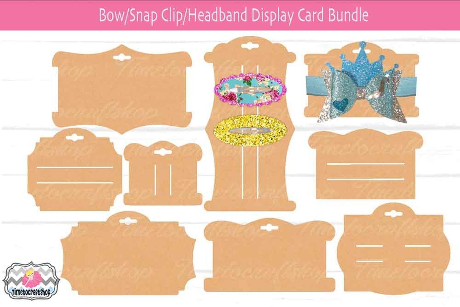 Hair Bow Snap Clip, Headband Display Card Bundle, Bow Card Template, Cricut  Bow Card Within Headband Card Template Inside Headband Card Template