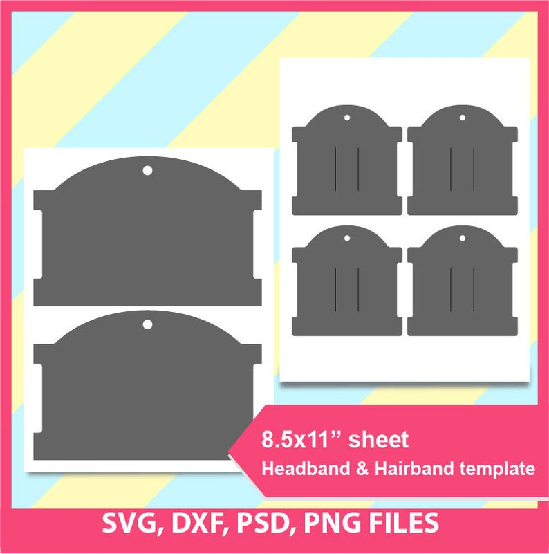 Hairband card Template, Hair bow display card template, Mircrosoft word  doc, PSD, PNG and SVG, Dxf, Formats, 11 Within Headband Card Template