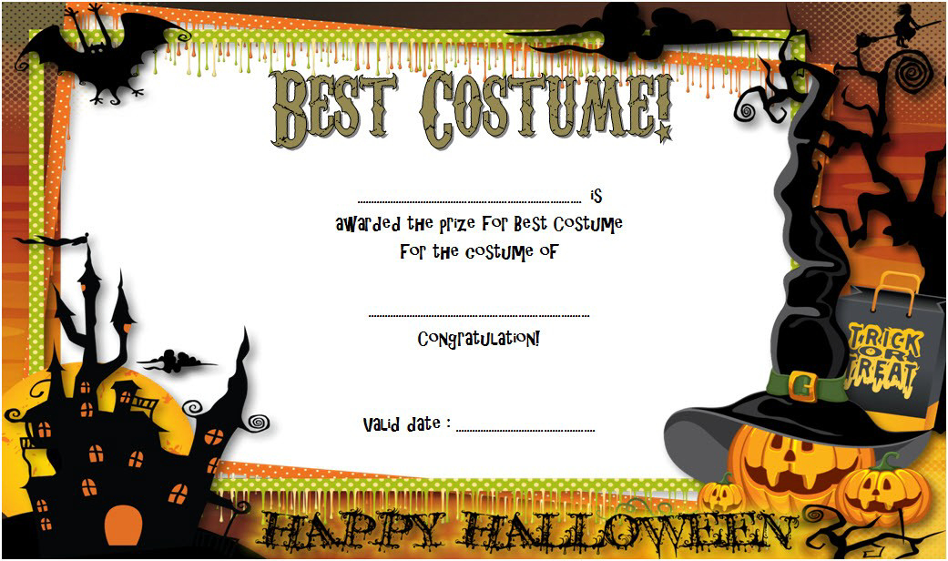 Halloween Award Certificate Template (Page 11) – Line.111QQ