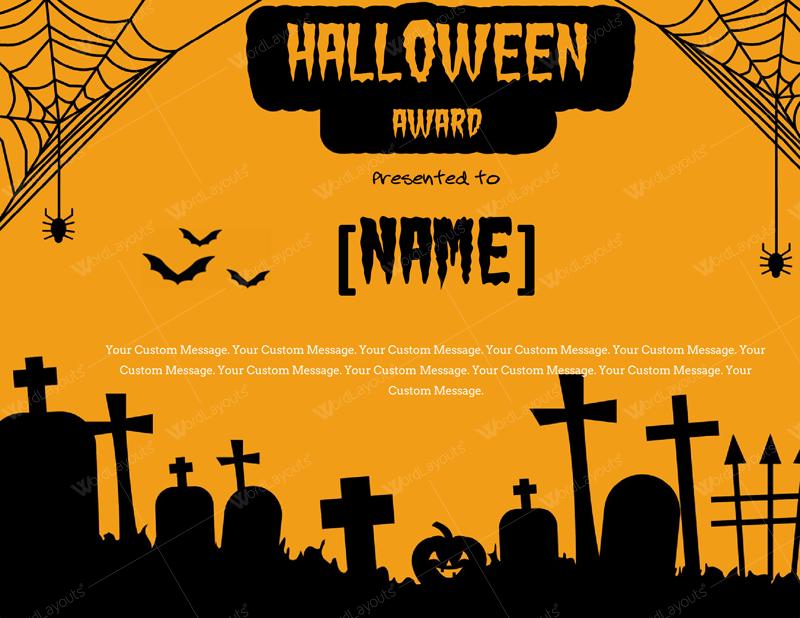 Halloween Award Certificates (11+ Best Templates) Intended For Halloween Certificate Template Within Halloween Certificate Template