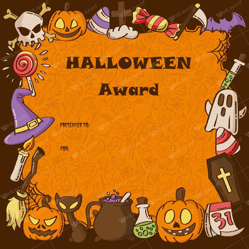 Halloween Award Certificates - 11+ Printables for Microsoft Word Intended For Halloween Certificate Template Within Halloween Certificate Template