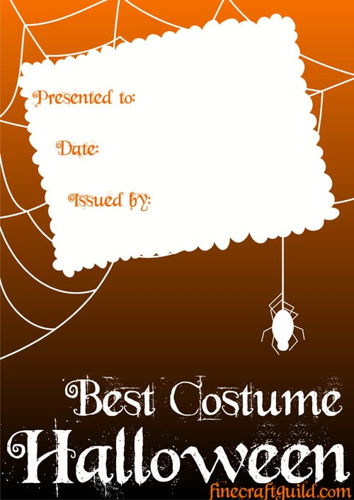 Halloween Costumes – Fine Craft Guild – 11 Intended For Halloween Costume Certificate Template