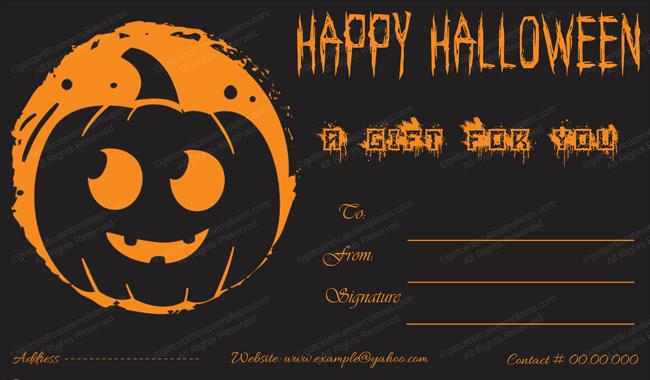 Halloween Gift Certificate Template 11 - Blank Certificate Templates Intended For Halloween Certificate Template With Halloween Certificate Template