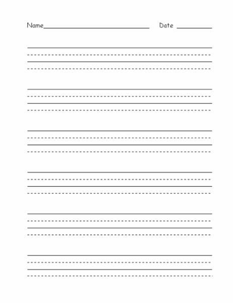 Handwriting practice paper (advanced) With Regard To Notebook Paper Template For Word For Notebook Paper Template For Word
