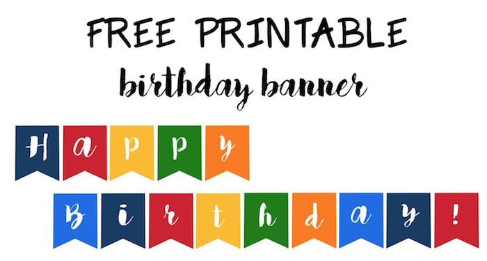 Happy Birthday Banner Free Printable  Paper Trail Design Inside Free Printable Happy Birthday Banner Templates In Free Printable Happy Birthday Banner Templates