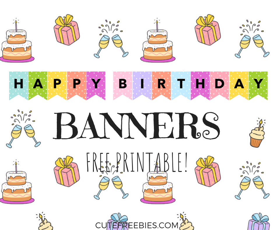Happy Birthday Banners / Buntings - Free Printable! - Cute  With Regard To Free Happy Birthday Banner Templates Download With Free Happy Birthday Banner Templates Download