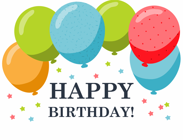 Happy Birthday card (with balloons, quarter-fold) Pertaining To Quarter Fold Birthday Card Template With Quarter Fold Birthday Card Template