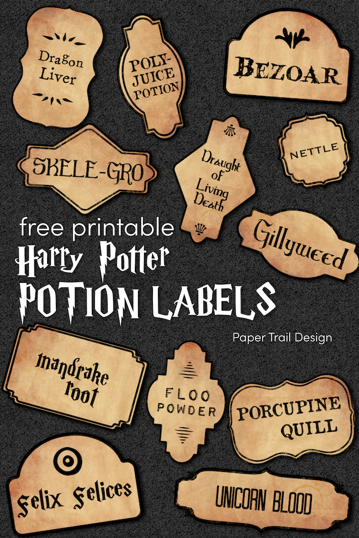 Harry Potter Potion Labels Printable  Paper Trail Design For Harry Potter Potion Labels Templates Pertaining To Harry Potter Potion Labels Templates