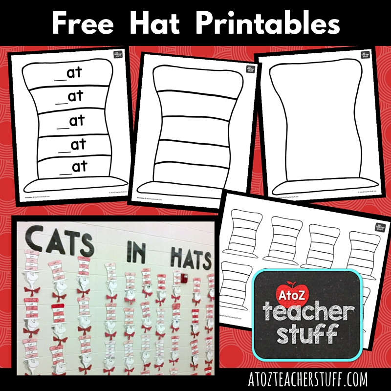 Hat Printables for Dr Pertaining To Blank Cat In The Hat Template