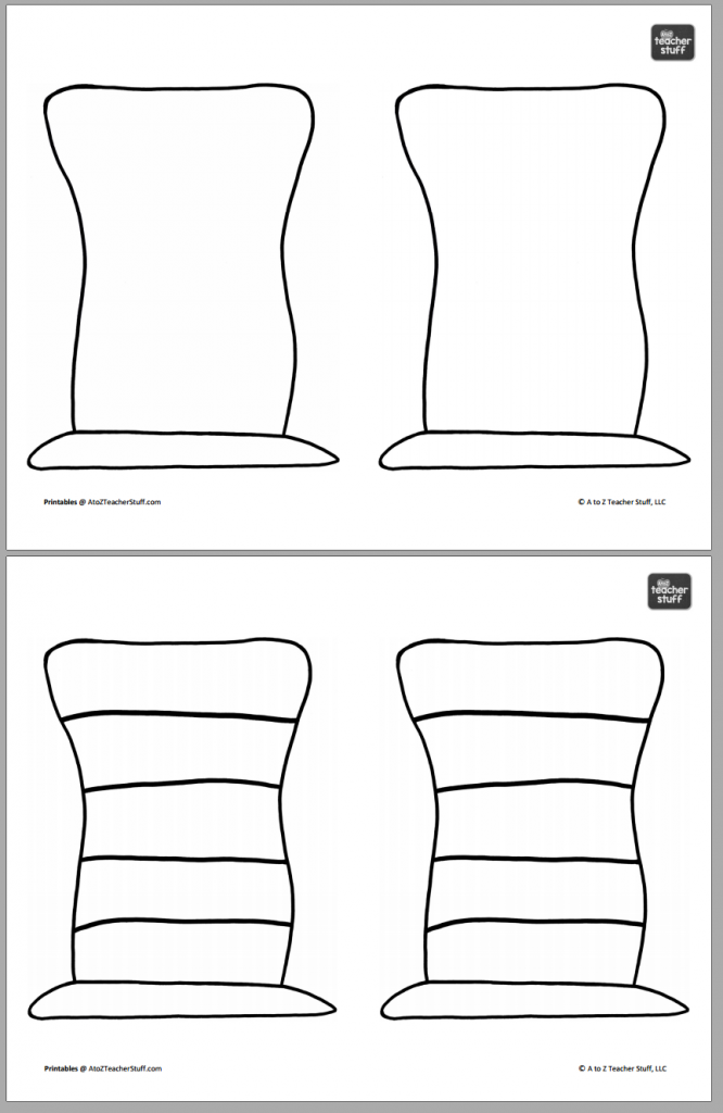 Hat Printables for Dr Intended For Blank Cat In The Hat Template